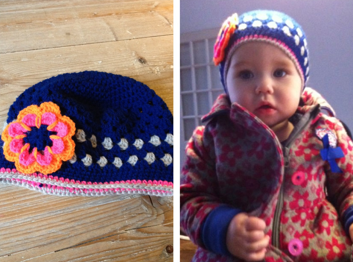 Crochet Baby Beanie 9 Months Size Bypetra