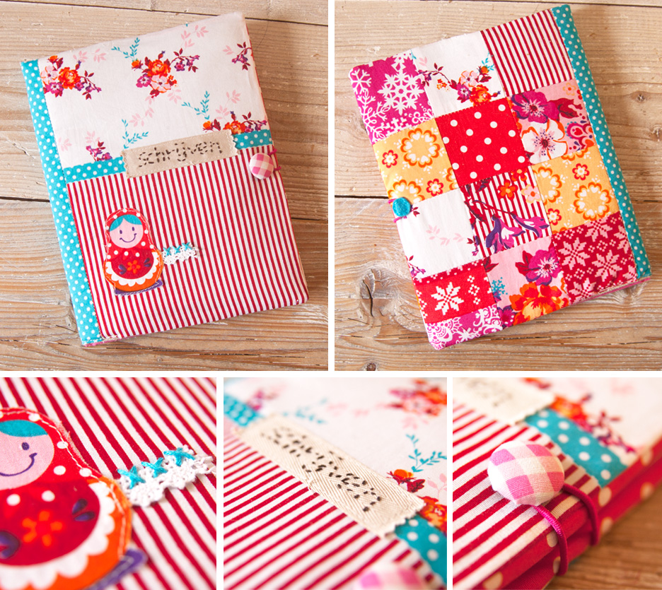 Fabric Book Covers Make Your Own : Fabric notebook cover « bypetra