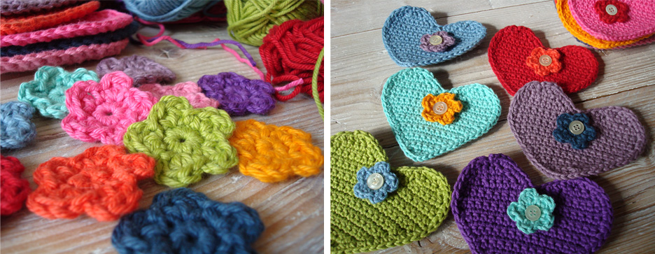 crocheted-heart-garland-progress