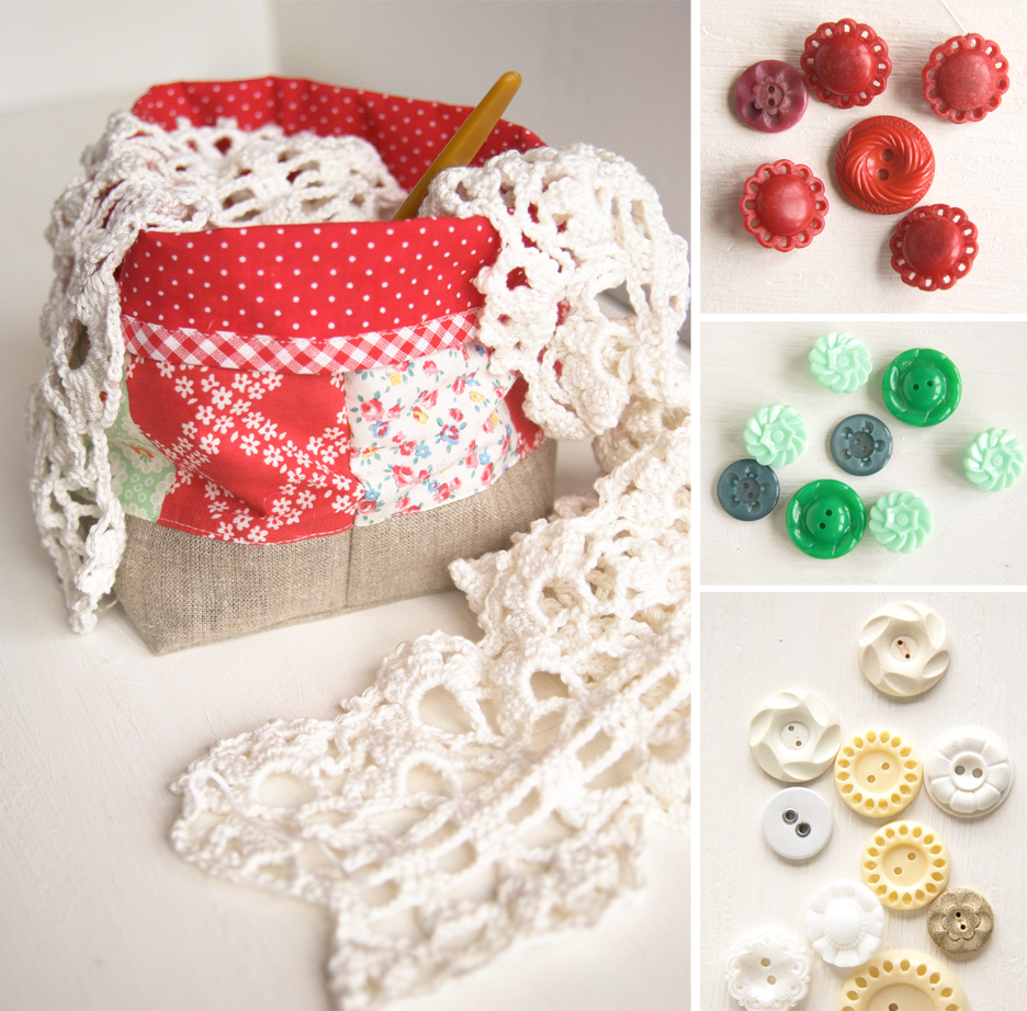 fabric-basket-and-buttons